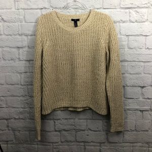 GAP oversized crew neck cream/tan knitted sweater